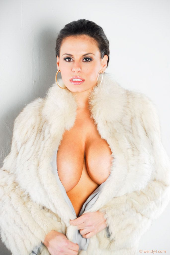 Fur coat big boobs apologise, but