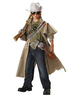 Child Zombie Hunter Costume | Cheap Horror Halloween Costume for Boys Costumes