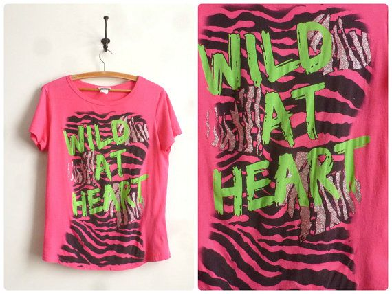 Wild+at+Heart+T+Shirt+90s+Neon+Animal+Print+by+thatwasagoodyear,+$15.00