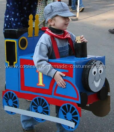 If my son is still as crazy about trains next year as he is now, this might have to be his Halloween costume.