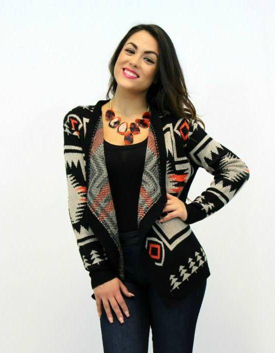Tribal Print Cardigan #aztec