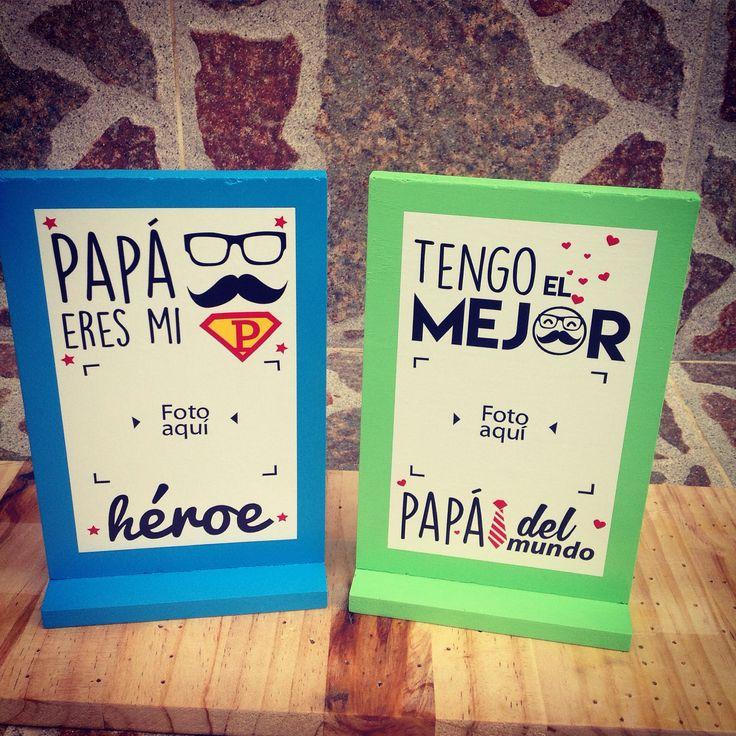 Portaretratos para los verdaderos súper héroes los verdaderos padres, a esos merecen los mejor