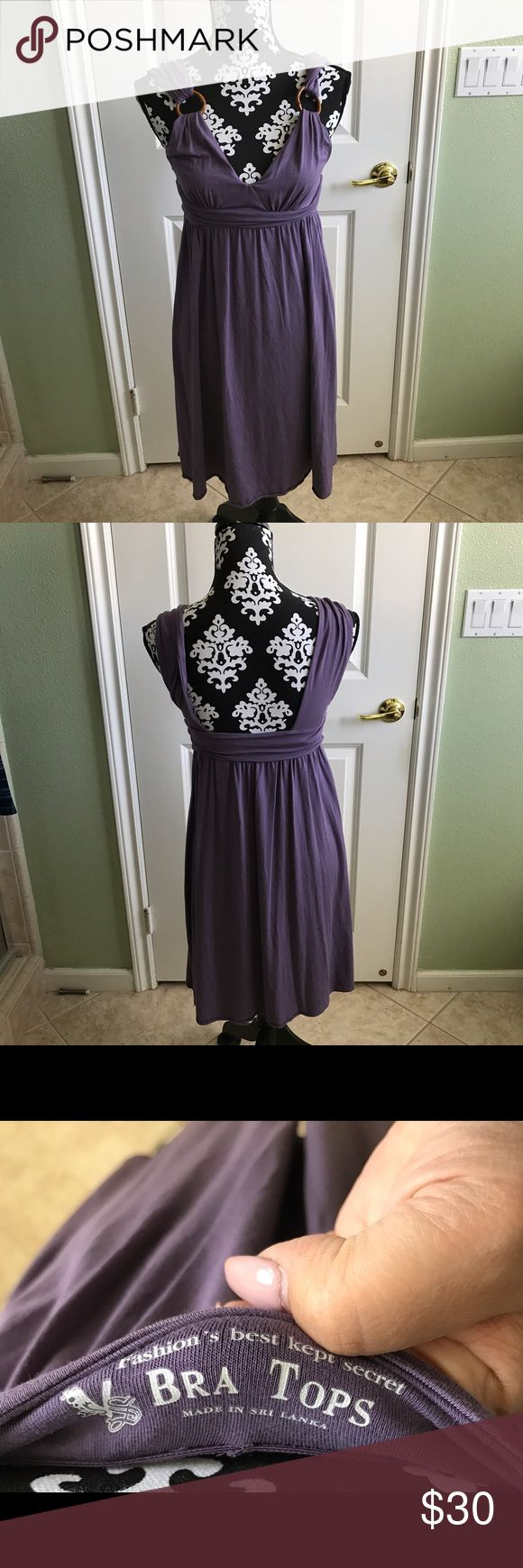 Victoria Secret Purple Summer dress In great pre loved condition no rips stains or tears  has a built in bra support Victoria's Secret Dresses Midi