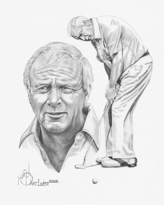 Arnold Palmer by Murphy Elliott - Arnold Palmer Drawing - Arnold Palmer Fine Art Prints and Posters for Sale