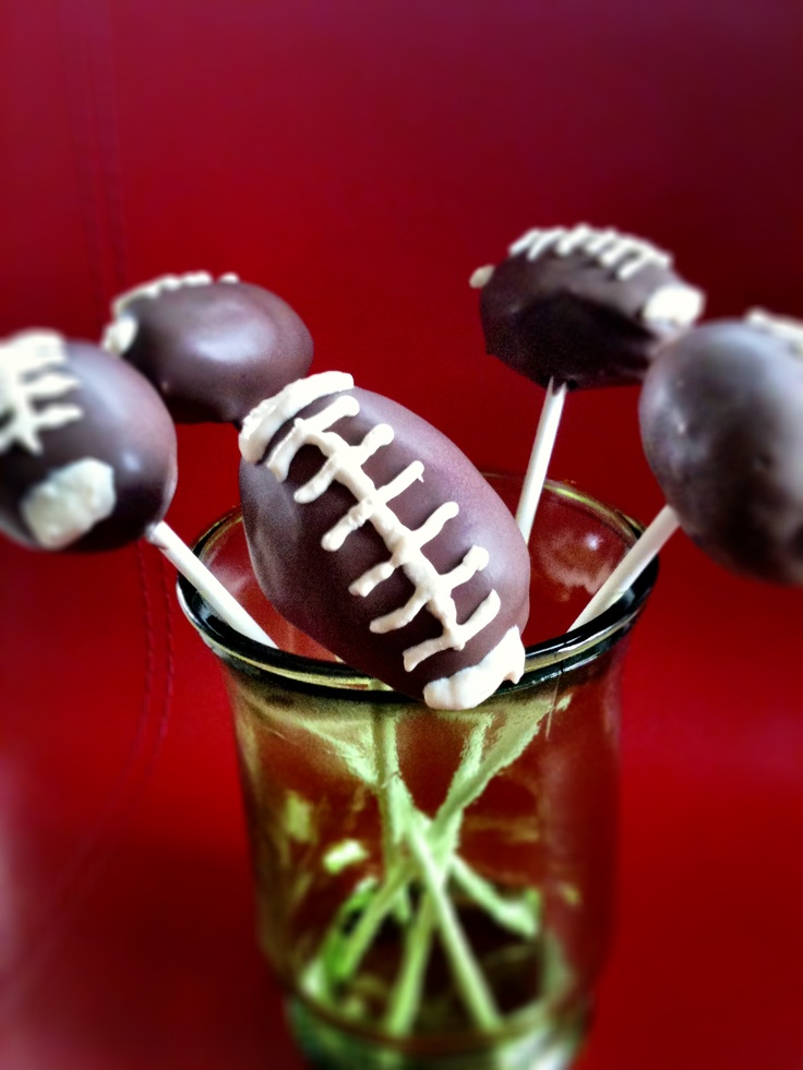 Rugby Ball Cake Pops!