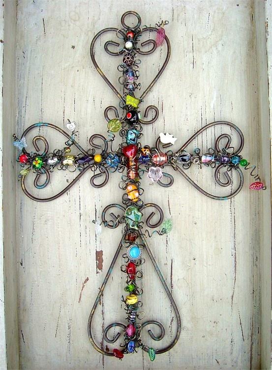 wire beaded cross.
