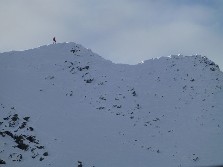 Jogging along Striding Edge! November 2012