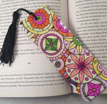 Crafty Ways to Use Your Coloring Pages: Create a Bookmark!