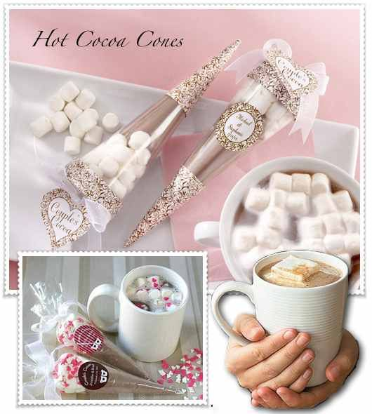 hot cocoa: Gifts Mixed, Cocoa Gifts, Dani Showers, Cocoa Giveaways, Showers Favors, Gifts Idea, Cocoa Favors, Hot Cocoa, Cocoa Cones