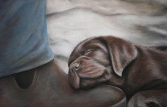 Dog art DigitalPuppy art puppy dog dog artwork labrador