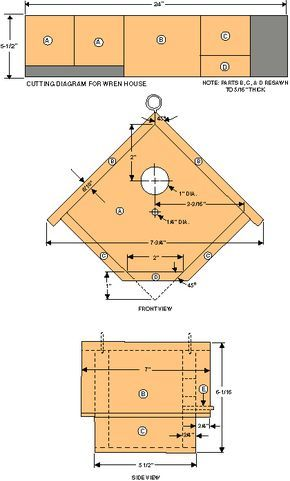 Bird house plans google search wow lots of great plans for Where to find house plans