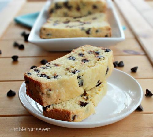 Chocolate Chip Pound Cake • Table for Seven