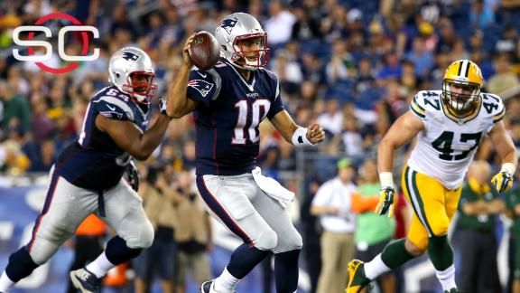 Jimmy Garoppolo hard on himself after New England Patriots' loss 8/13/15