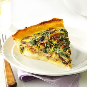Spinach Quiche with Potato Crust great use for leftover mashed potatoes
