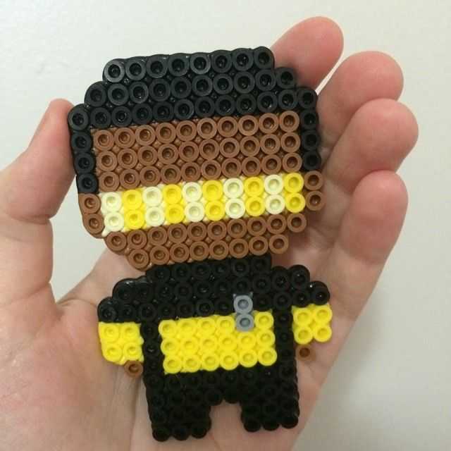 Geordi Laforge Star Trek perler beads by typhoidannie