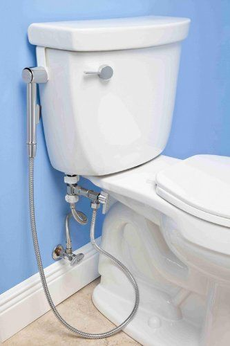 TOPSELLER! Aquaus Toilet Bidet Handle wash. Spray. Too clean yourself. While on toilet then. The. Bidet spray hangs on the. Side. Of the. Toilet. While not in use $59.95