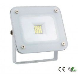 Projecteur LED 10W  Blanc Froid (6000K)  Puissance : 10 Watt Angle: 120° Poids: 600 g Lumens: 900lm Tension : 220 - 240 Volt Dimension : 11,8* 12,8*4,45 cm Indice de Protection : IP65 Garantie : 1 ans CE, ROHS ,RECYLUM