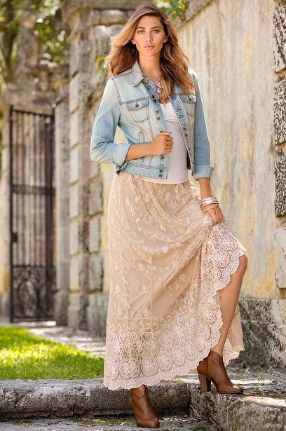 17 Best Ideas About Lace Maxi Skirts On Pinterest Long