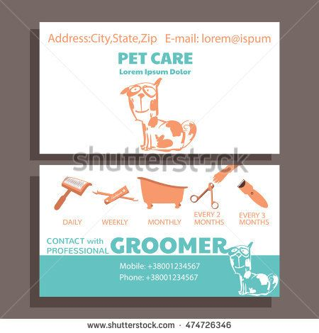 stock-vector-business-card-of-service-grooming-pet-informative-banner-with-dog-474726346.jpg (450×470)