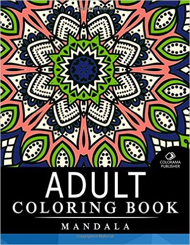 Adult Coloring Book Mandala Stress Relieving Patterns Books For Adults