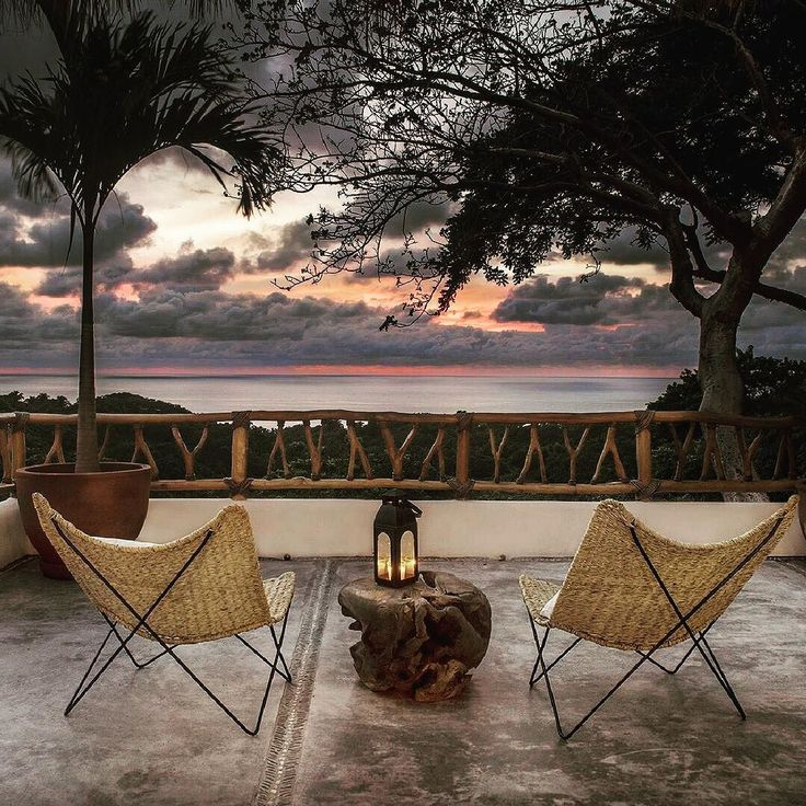 Sit back with a cold drink and contemplate the glorious sunset at Villa Valentin in Sayulita. | TripWix Sayulita Vacation Rentals