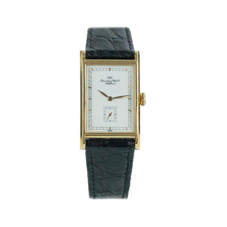 Beautiful IWC Novecento Piccoli Secondi  Reference 2550  18 KT Gold case  White dial  Automatic movement  Original black cocco wristband  Comes with