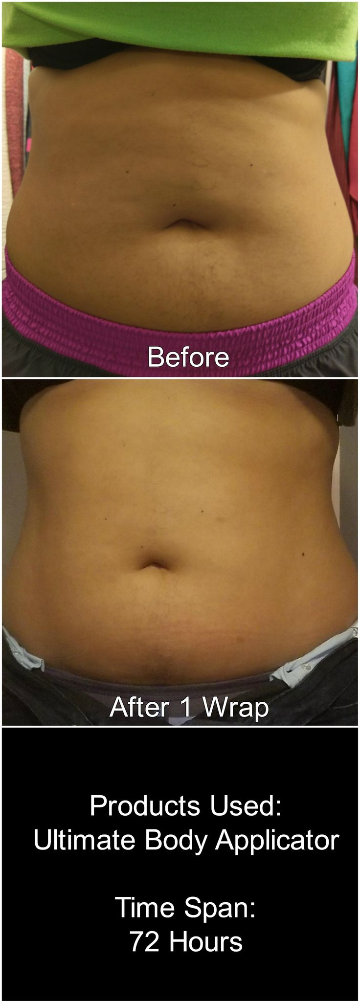 Ultimate Body Applicator results after just 1 wrap!  http://natalielima.itworks.com/shop/product/111 Contact me for more details: nl.natalielima@gmail.com