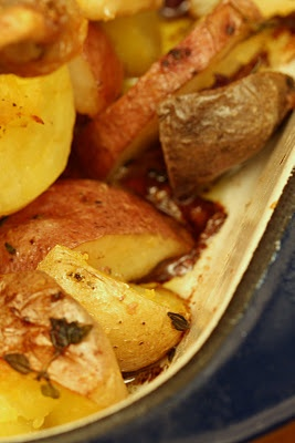 Greek-Style Roasted Chicken with Potatoes | Essen | Pinterest ...