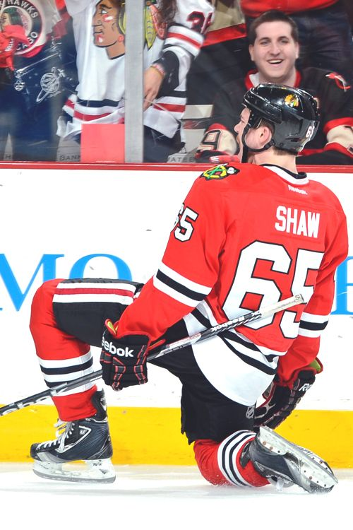 Andrew Shaw, Chicago Blackhawks..played junior with the Owen Sound Attack. --  ontario