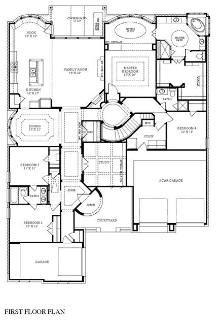 Brigsby New Home Plan In West Ranch Classic And Kingston Collections Village BuildersIsland KitchenCovered PatiosFormal Dining RoomsMedia