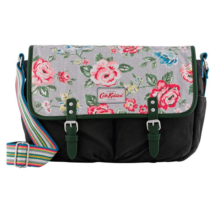 Rainbow Rose Cotton Saddle Bag | Cross Body Bags | CathKidston