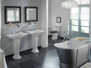 Ideas for black and white design - Traditional-black-and-white-bathrooms.jpg