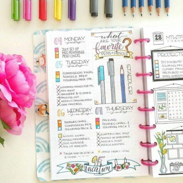 encore des dessins pour décorer les pages de son agenda avec goût, modele d agenda scolaire personnalisé