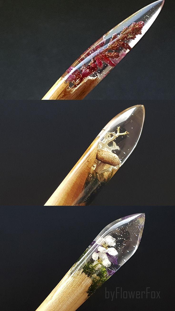 Terrarium hair sticks byflowerfox Flower hair sticks Mushrooms Terrarium jewelry…