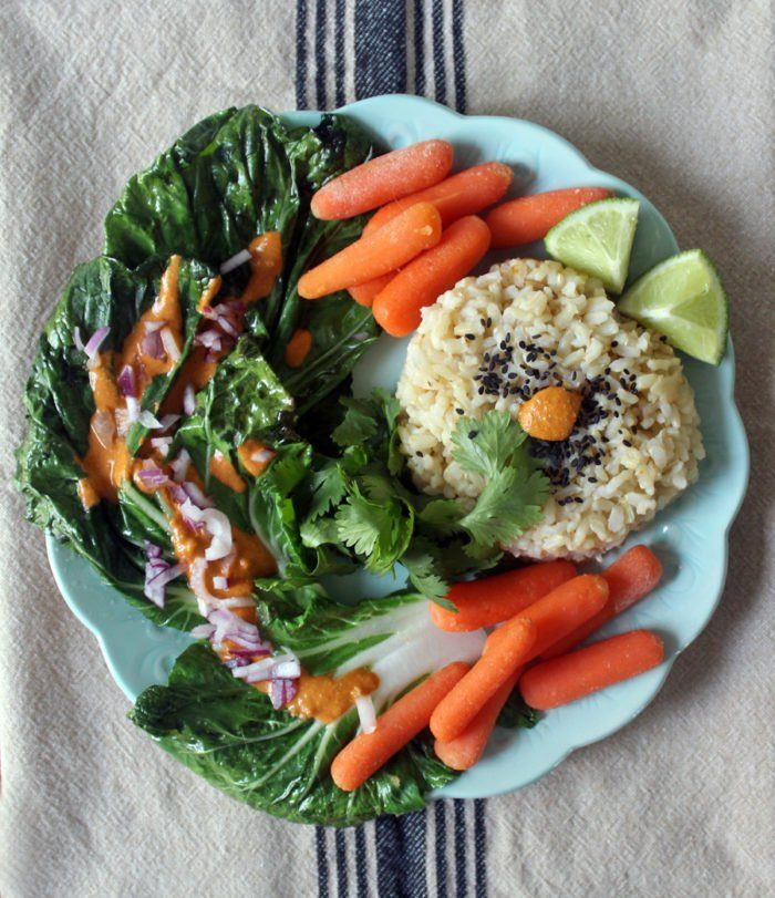 Healthy Dinner: Bok Choy and Brown Rice with Red Bell Pepper Sauce - Peaceful Dumpling  Peaceful Dumpling