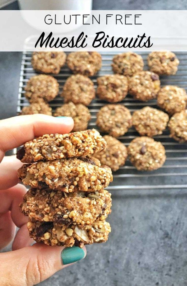 Gluten Free Muesli Biscuits by Happy Mum Happy Child  Just as good as the Oat Breakfast Biscuits - these are the perfect biscuits for anyone suffering from Coeliac Disease