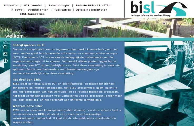 Oude website van BISL van PinkRoccade. Procesmodel voor professionalisering van het functioneel beheer en informatiemanagement. Methode ontwikkeld door PinkRoccade. (2005)