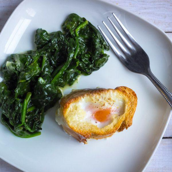 Baked eggs in Baguette