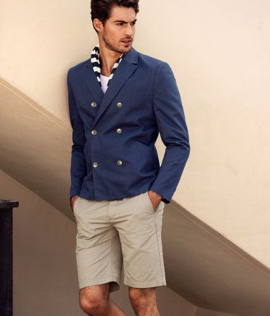 Nice and easy: Casual Summer, Dreams Men, Summer Style, Double Breast, Men Fashion, Modern Gentleman, Blazers And Shorts, Sweet Style, Khakis Shorts