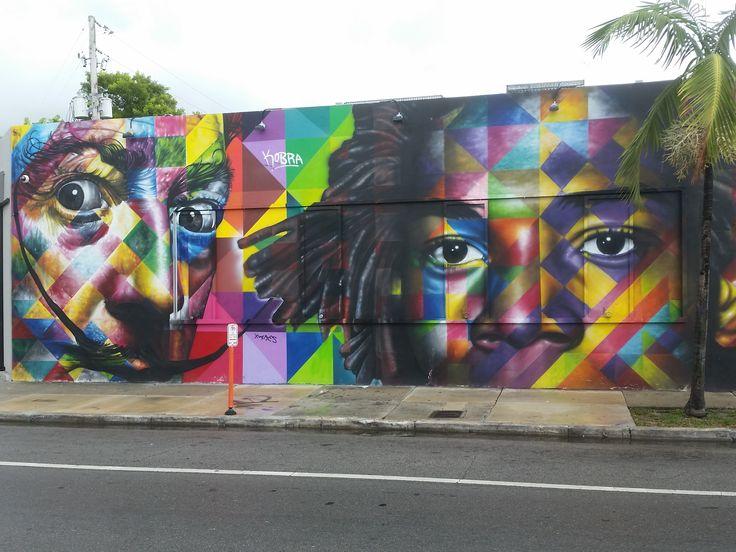 Arte urbano en Miami, Eduardo Kobra. digerible