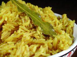 Turmeric Rice....  just a little less turmeric next time