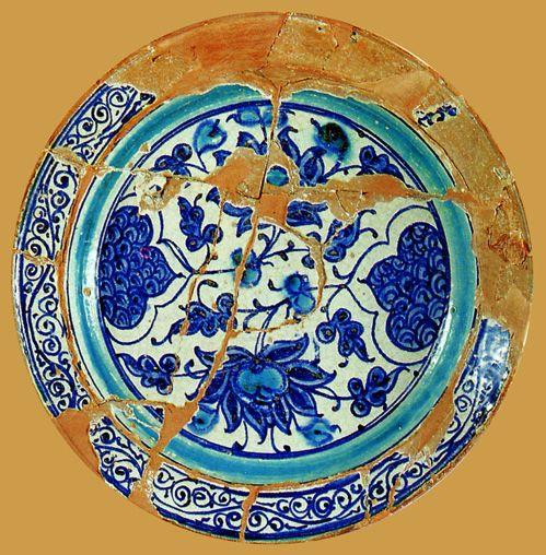 İznik Milet ware,plate, red clay,32,5 cm second half 15th century, İstanbul Archeology Museum  (Erdinç Bakla archive)
