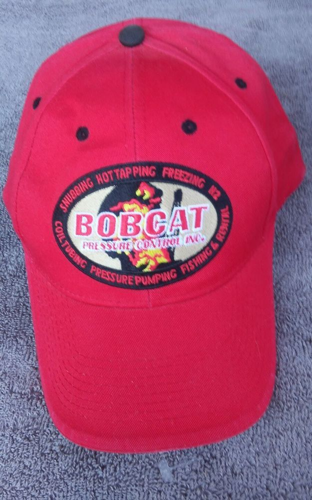 Oil Rig Hat Cap Bobcat Control Trucker Oil Rig Fire Fighters Red Black Capamerica Trucker Black And Red Hats Oil Rig