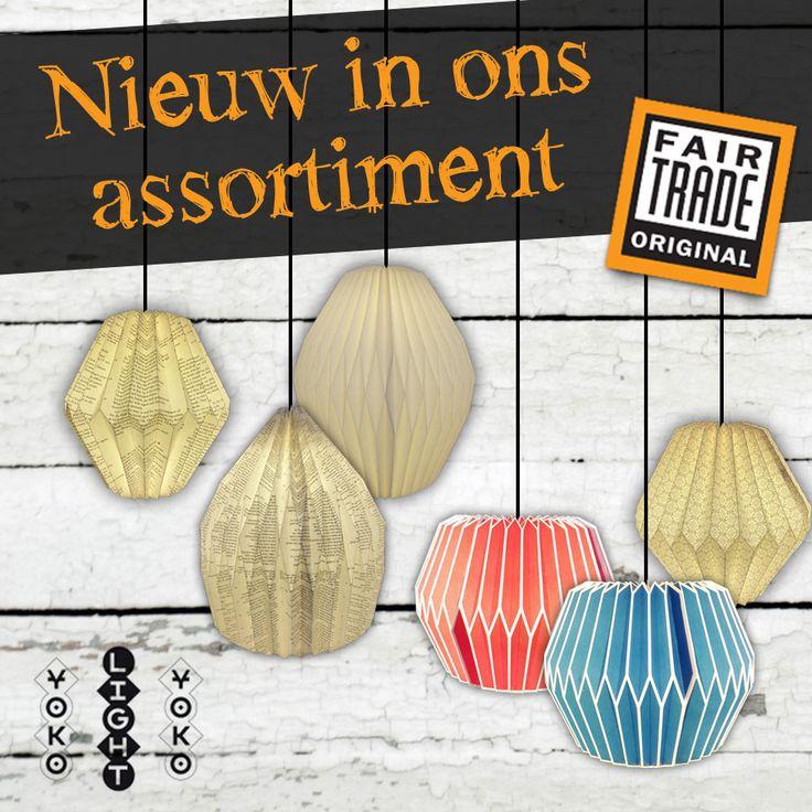 We hebben sinds deze week YOKO lights in ons assortiment. Een mooi FairTrade product wat ontstond uit de behoefte van het maken van papier. Wil je ook zo'n mooie lamp thuis? http://www.maakjeeigensfeer.nl/woonaccessoires/verlichting/yoko-lights-origami-papieren-lampen.html