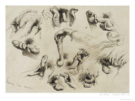 Studies of Masturbation, Plate 40 of 'Liebe Giclee Print