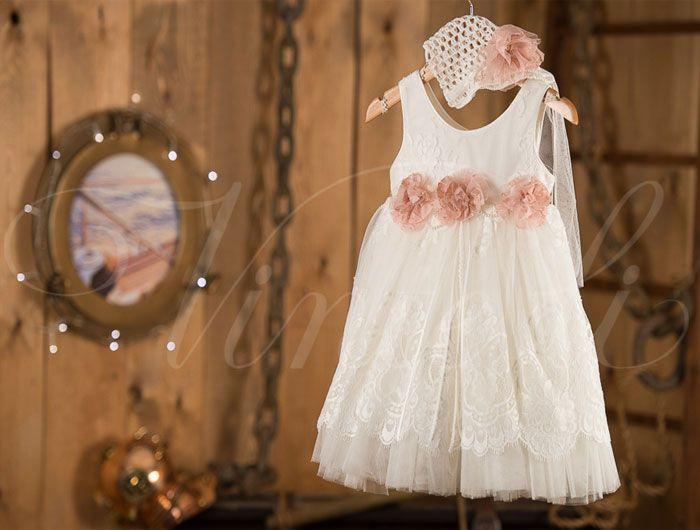 Βαπτιστικά ρούχα, φόρεμα Vinte li με δαντέλα 2440*