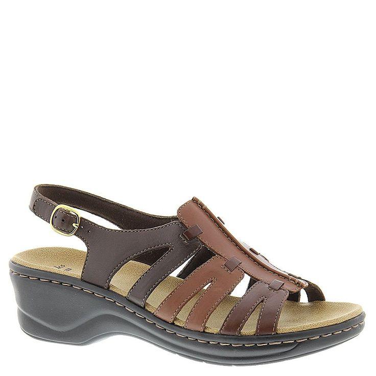 Clarks Women's Lexi Marigold Q Brown Multi Leather Sandal 5.5 B (M) **