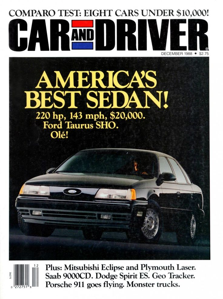 Car and Driver: America's Best Sedan! 1989 SHO introduction