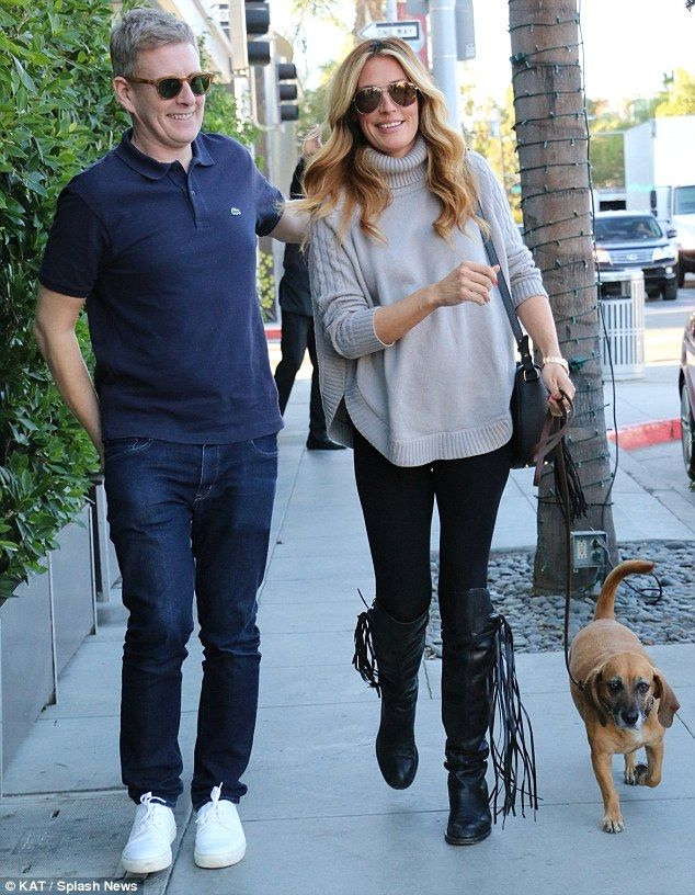 Stylish: Cat Deeley proved her maternity dressing prowess on Thursday as she and husband P...