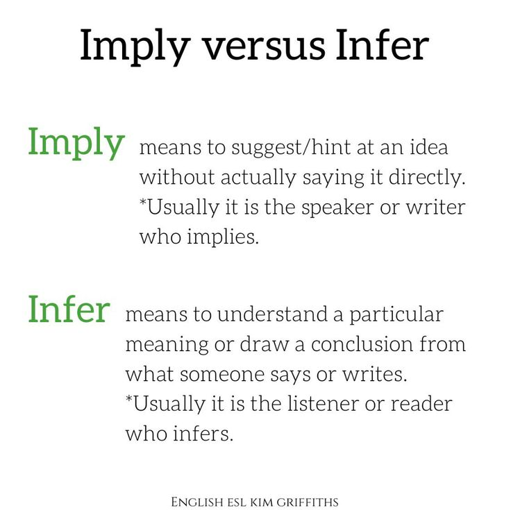 Imply and Infer Kim Griffiths (@EnglishESLKim) on Twitter